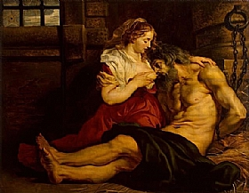 Pierre Paul Rubens, Charité romaine - GRANDS PEINTRES / Rubens