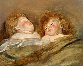 Pierre Paul Rubens, Deux chérubins endormis - GRANDS PEINTRES / Rubens