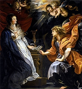 Pierre Paul Rubens, l'annonciation - GRANDS PEINTRES / Rubens