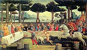 Sandro Botticelli, Le banquet dans la pinède - GRANDS PEINTRES / Botticelli
