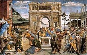 Sandro Botticelli, Le chatiment de Coré - GRANDS PEINTRES / Botticelli