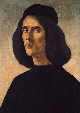 Sandro Botticelli, Portrait de Michel Marulle - GRANDS PEINTRES / Botticelli