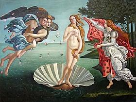 Sandro Botticelli, La Naissance de vénus - GRANDS PEINTRES / Botticelli