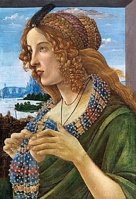 Sandro Botticelli, Simonetta Vespucci - GRANDS PEINTRES / Botticelli