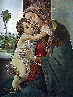 Sandro Botticelli, Vierge à l'enfant - GRANDS PEINTRES / Botticelli
