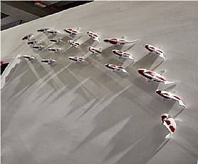 Sculpture laquée blanc-rouge, grand poisson - SCULPTURES / Sculptures Résine