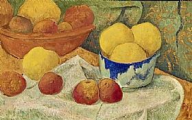 Paul Sérusier, Pommes dans un plat bleu - GRANDS PEINTRES / Sérusier