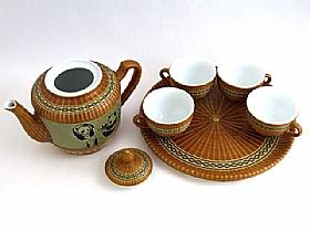 Service a thé de chine, Théière et tasses Pandas - SCULPTURES / Comptoir du Thé