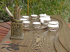 Service a thé de chine, Coffret complet Le Paradis - SCULPTURES / Comptoir du Thé