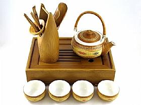 Service a thé de chine, Coffret complet Quiétude - SCULPTURES / Comptoir du Thé