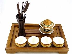 Service a thé de chine, Set complet Tranquilité - SCULPTURES / Comptoir du Thé