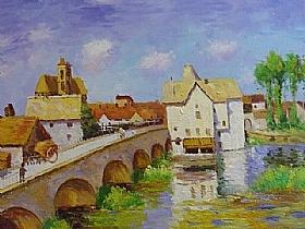 Alfred Sisley, Le pont de Moret-sur-Loing - GRANDS PEINTRES / Sisley