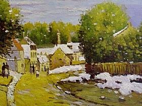 Alfred Sisley, Première neige à Louveciennes - GRANDS PEINTRES / Sisley