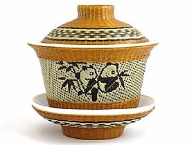 Théière Bambou et Porcelaine, La Tranquillité - SCULPTURES / Comptoir du Thé