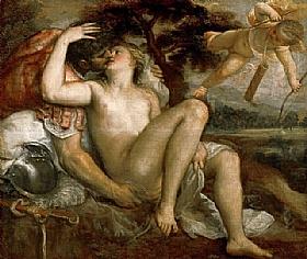 Tiziano Vecellio dit Titien, Mars et Vénus - GRANDS PEINTRES / Titien