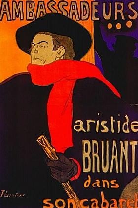 Henri de Toulouse-Lautrec, Bruant aux ambassadeurs - GRANDS PEINTRES / Toulouse-Lautrec