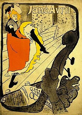 Henri de Toulouse-Lautrec, Jane Avril au Moulin Rouge - GRANDS PEINTRES / Toulouse-Lautrec