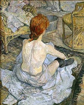 Henri de Toulouse-Lautrec, Rousse ou la Toilette - GRANDS PEINTRES / Toulouse-Lautrec