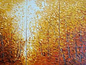 Expériences de vie, Clairière dans la forêt - GRANDS FORMATS / Triptyques