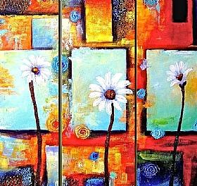 Nature et Flore, Marguerites - GRANDS FORMATS / Triptyques