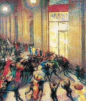 Umberto Boccioni, Emeutes sous les arcades - GRANDS PEINTRES / Boccioni