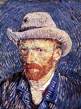 Vincent Van Gogh, Autoportrait au chapeau - GRANDS PEINTRES / Van Gogh