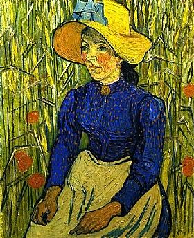 Vincent Van Gogh, Jeune paysanne avec chapeau - GRANDS PEINTRES / Van Gogh