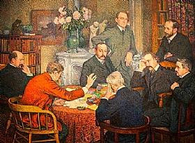 Théo Van Rysselberghe, La lecture - GRANDS PEINTRES / Van Rysselberghe