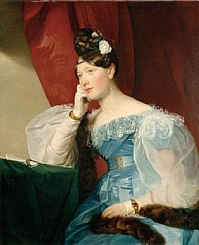 Friedrich von Amerling, La Comtesse Julie von Woyna - GRANDS PEINTRES / Von Amerling