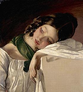 Friedrich von Amerling, Jeune fille - GRANDS PEINTRES / Von Amerling