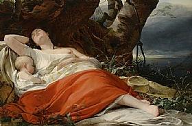 Friedrich von Amerling, La pêcheuse endormie - GRANDS PEINTRES / Von Amerling
