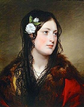 Friedrich von Amerling, Portrait d'Elise Kreuzbergervon - GRANDS PEINTRES / Von Amerling