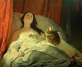 Friedrich von Amerling, Somnolence - GRANDS PEINTRES / Von Amerling