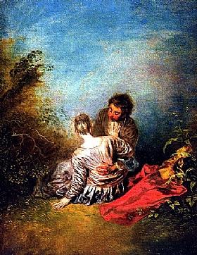 Jean Antoine Watteau, Le faux pas - GRANDS PEINTRES / Watteau