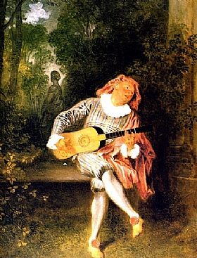 Jean Antoine Watteau, Muzzetin - GRANDS PEINTRES / Watteau