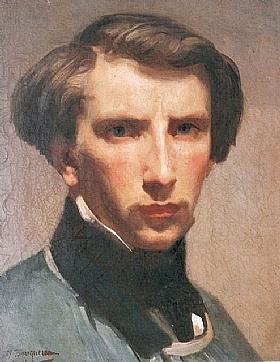 William-Adolphe Bouguereau, Autoportrait (jeune) - GRANDS PEINTRES / Bouguereau