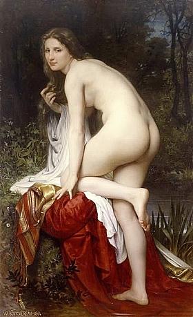 William-Adolphe Bouguereau, Baigneuse 1864 - GRANDS PEINTRES / Bouguereau