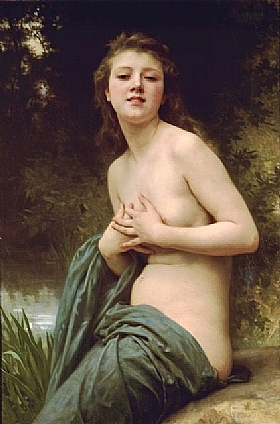 William-Adolphe Bouguereau, Brise de printemps - GRANDS PEINTRES / Bouguereau
