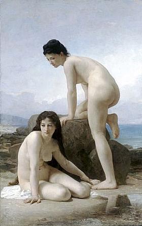 William-Adolphe Bouguereau, Deux Baigneuses - GRANDS PEINTRES / Bouguereau