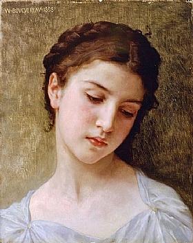 William-Adolphe Bouguereau, Portrait de jeune fille - GRANDS PEINTRES / Bouguereau