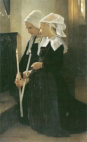 William-Adolphe Bouguereau, Voeu à sainte Anne d'Auray - GRANDS PEINTRES / Bouguereau