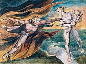 William Blake, Les anges du bien et du mal - GRANDS PEINTRES / Blake