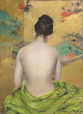 William Merritt Chase, Dos nu d'une femme - GRANDS PEINTRES / Chase