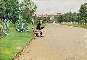 William Merritt Chase, Dans le parc - GRANDS PEINTRES / Chase
