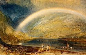 William Turner, Arc en ciel - vue du Rhin - GRANDS PEINTRES / Turner