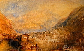 William Turner, Brunnen - le lac de Lucerne - GRANDS PEINTRES / Turner