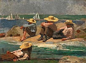 Winslow Homer, Enfants sur la plage - GRANDS PEINTRES / Homer
