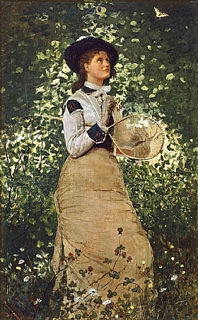 Winslow Homer, La fille aux papillons - GRANDS PEINTRES / Homer