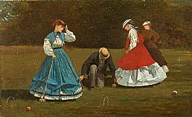 Winslow Homer, Scène de croquet - GRANDS PEINTRES / Homer