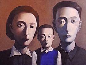 portrait de famille, l'enfant exemplaire - PEINTURES / Tableaux Asie